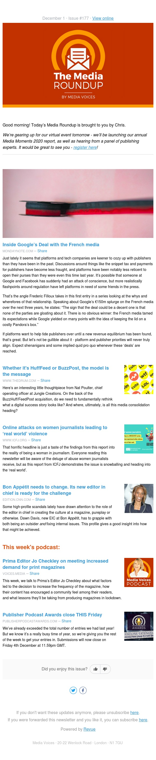 Tuesday 1st December: The secret shenanigans behind platforms paying publishers