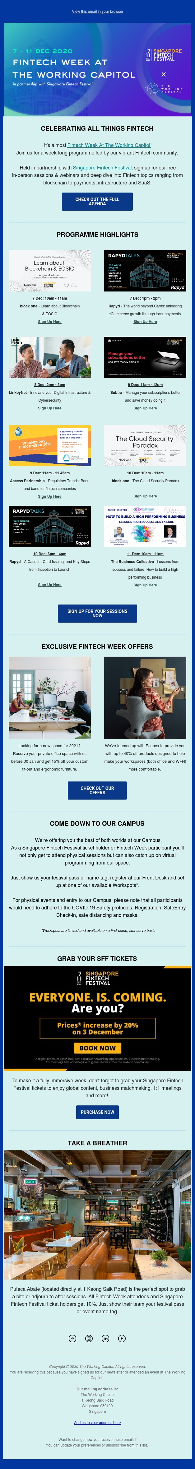 Check Out Our Fintech Week Agenda!